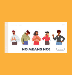 no means landing page template multiracial vector image