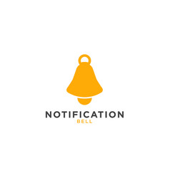 notification bell graphic design template vector image