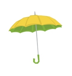 Open classic elegant umbrella vector image