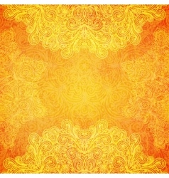 Orange ethnic background vector image