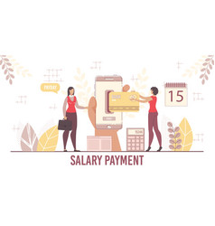 Payroll and salary payment service for business vector