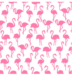 pink flamingo silhouettes seamless pattern on vector image