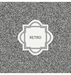 Polka dot Geometric monochrome abstract pattern vector image