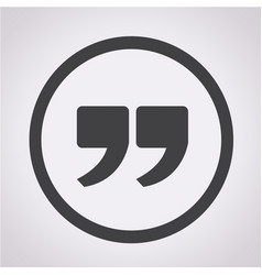 quote sign icon quotation mark vector image