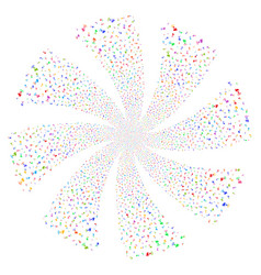 Radio transmitter fireworks swirl rotation vector