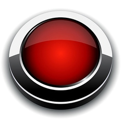 Red 3d button vector