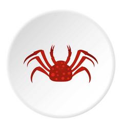 Red alaska crab icon circle vector