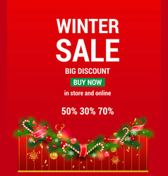 red sale advertising vector image