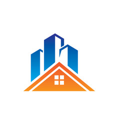 roof home skycrapter logo vector image