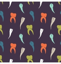 seamless dark colorful teeth pattern vector image