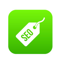 seo tag icon digital green vector image