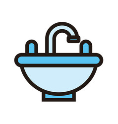 sink icon isolated on white background from hotel vector image