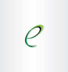 small letter e green black logo vector image