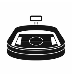 Stadium icon in simple style vector image
