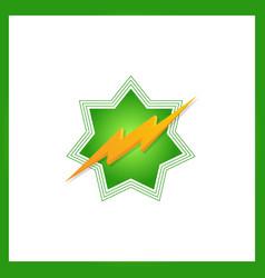 Storm 3d bolt logo template star vector