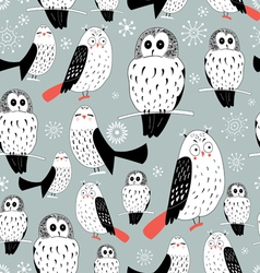 texture of white owls vector image
