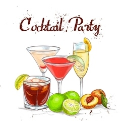 The Unforgettables Cocktail Set cocktail party vector image