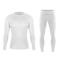 Thermal cloth for winter pants and shirt clothing vector