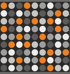 tile pattern with grey white and orange polka dot vector image