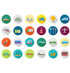 Transport round icons set vector image