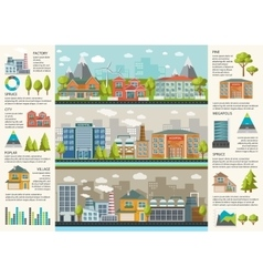 Urbanity Infographics Template vector image