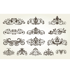 Vintage element and page decoration borders set vector