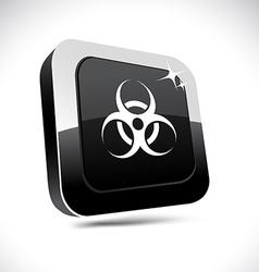Virus 3d square button vector