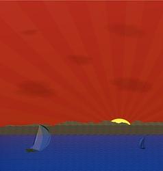 Water landscape vector image