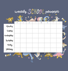 Weekly and daily planner page design template vector