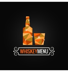 whiskey bottle poly design background vector image