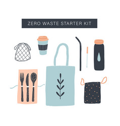 zero waste starter kit vector image
