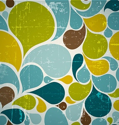 Colorful abstract retro pattern vector image
