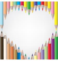 coloured pencil set vector image