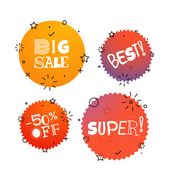 different thank you tags set banners collection vector image vector image