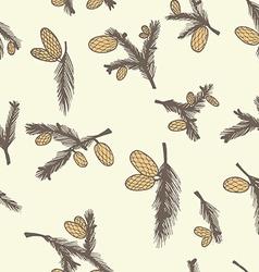 Fir pine cone seamless pattern vector image