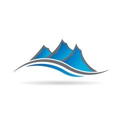 Mountains logo image vector image
