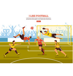 on soccer pitch background vector image vector image