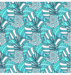 ornamental seamless pattern textile texture vector image vector image