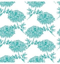 Seamless pattern with chrysanthemum flower vector image