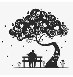 tree love vector image vector image