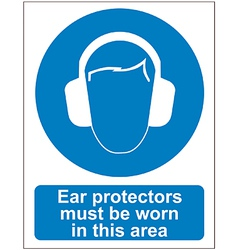 Ear protectors sign vector image vector image