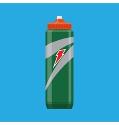 Green plastic sports bottle hydro flask water vector image vector image