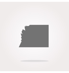 white paper on web button icon isolated on vector image