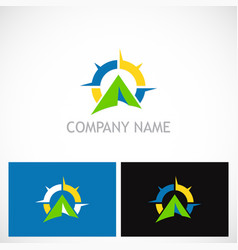 camping north star business logo vector image