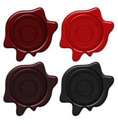 Crest wax seals in four colors vector
