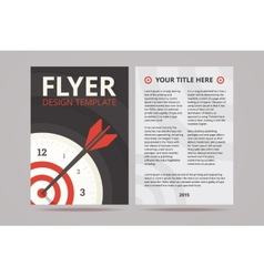 Flyer design template with time management vector image vector image