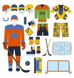 Hockey set vector image