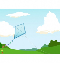 kite flying vector image vector image