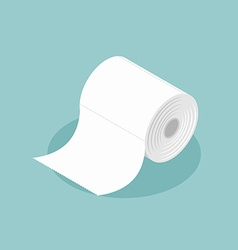 Roll of toilet paper isometrics Special paper for vector image