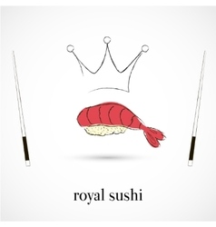 Royal sushi restaurant vector image